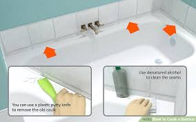 How To Clean A Bathroom Professionally How To Caulk A Bathtub 10 Steps With Pictures Wikihow
