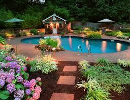 swimming pool incredible backyard design of modern house with