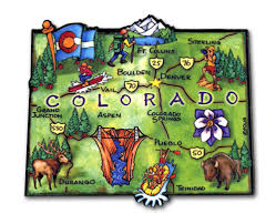 Colorado State Map by Colorado State Magnet Artwood Classicmagnets Com