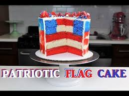how to make a patriotic flag cake chelsweets youtube