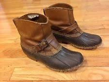 ll bean duck boots womens size 9 l l bean medium width b m slip on boots for ebay