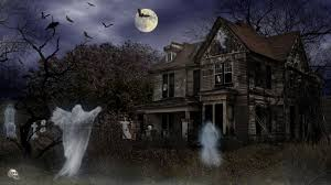 animated halloween desktop wallpaper haunted house desktop wallpaper
