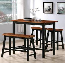 Dining Room Table Set With Bench 4 Piece Counter Height Table Set With Chairs And Bench Tyler By