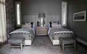 Guest Room With Twin Beds by Transitional Guest Bedroom With Twin Beds R Cartwright Design