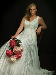 a healthy normal sized woman as a unbelieveably gorgeous bride