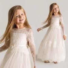 vintage communion dresses beautiful princess sheer tulle flower dresses sleeves