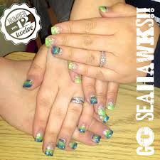 our seahawk nails by jonathan u0027s nail salon and spa in spokane wa