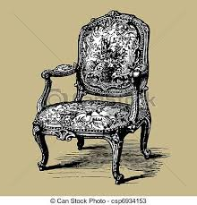 Clipart Armchair Vectors Of Antique Baroque Armchair Vector Illustration Of