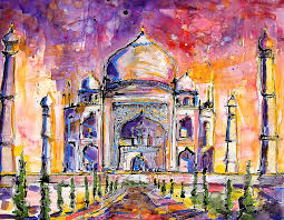 paint places colourful lively paintings of landmarks and famous places by