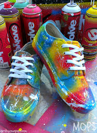 How To Graffiti With Spray Paint - custom painted vans shoes by mops in a graffiti by abstractceleb