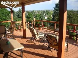 Covered Deck Ideas Partially Covered Deck Outdoors Pinterest Decking Backyard