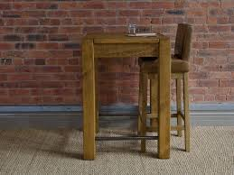 Unfinished Bistro Table Wood Round Pub Table Furniture Dark Brown Wooden Height With