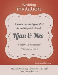 invitation card modern wedding invitation card psd for free by cssauthor on deviantart