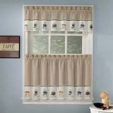 Coffee Themed Curtains Coffee Themed Kitchen Curtains Tiers Valance Set Complete Curtains