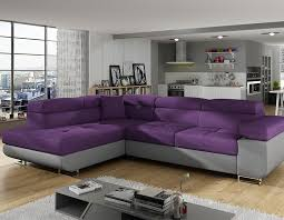 canap d angle violet canape angle violet en tissu hcommehome