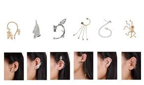 ear cuffs for pierced ears cheap ear cuff jewelry for pierced ears find ear cuff jewelry for