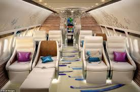 boeing 767 floor plan inside the booming industry of private jet design daily mail online