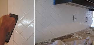 love sweat and tears kitchen remodel herringbone subway tile