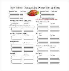 thanksgiving dinner sign up sheet templates happy thanksgiving
