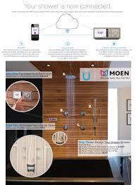 moen u by moen 4 outlet digital shower controller in terra beige