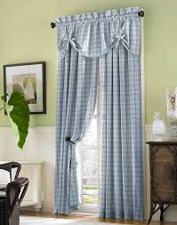 american country style plaid curtains for living room