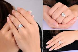fine engagement rings images S925 sterling silver jewelry heart ring cz diamond wedding jpg