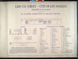 City Of Los Angeles District Map by File Wpa Land Use Survey Map For The City Of Los Angeles Book 1
