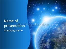 templates powerpoint earth free outer space powerpoint template blue planet earth in outer