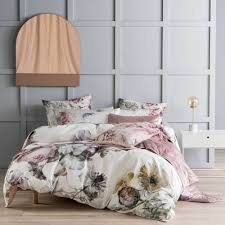 ellaria rose quilt cover u0026 pillowcase set king bed linen house