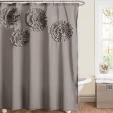 Lush Shower Curtains Lush Decor Flower Grey Shower Curtain Overstock