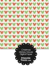 mickey mouse wrapping paper vintage mickey mouse christmas digital scrapbook paper printable