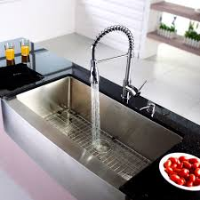 One Hole Kitchen Faucet With Sprayer Bathroom Mesmerizing Kraus Single Handle Hole Kitchen Faucet