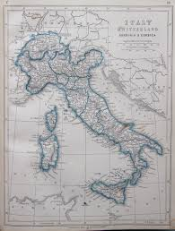 Italy On The Map by Map Of Italy And Switzerland 1853