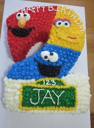 sesame street birthday cake elmo big bird and cookie monster