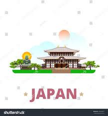 japan country design template flat cartoon stock vector 435589027