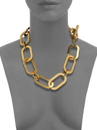 large gold link necklace images Michael kors cityscape chains large link statement necklace in jpeg
