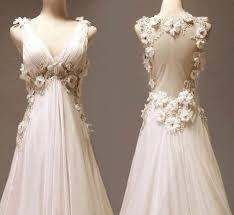 dress white flowers gown wedding dress open back flowy