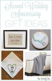 wedding anniversary ideas second anniversary gift ideas