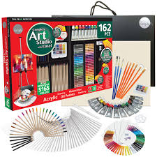 buy daler rowney simply 162 piece complete art studio art kit with