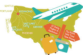 Alaska Flight Map by Airlines And Destinations