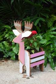 New Year Garden Decoration by Details About Reclaimed Wood Reindeer Xmas Chrismas New Year Plant