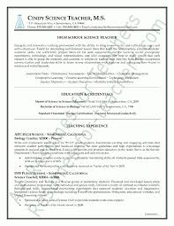 Resume Samples For Teacher by Science Teacher Resume Samples Best Resume Collection