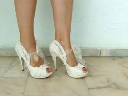 Wedding Shoes Ivory Embroidered Lace Bridal Shoes With Pearls In Ivory 5
