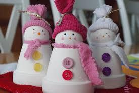 raising sweet souls flower pot snow people craft