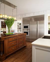 light wood floors with dark cabinets kitchen contemporary with