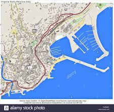 Italy Cities Map by Imperia Porto Maurizio Italy City Map Stock Photo Royalty Free