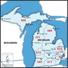 area code map of michigan 19 best area codes images on area codes maps and