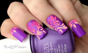 new mani neon flourish nail design