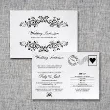 postcard wedding invitations cloveranddot com