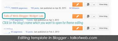 how to edit template in blogger step by step guide with images